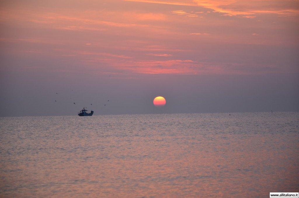 Закат солнца в Италии