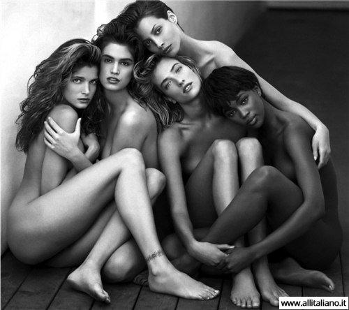 Знаменитые модели позируют Джан Версаче