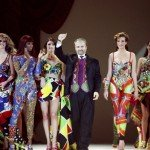 Stars Attend Gianni Versace Fashion Show