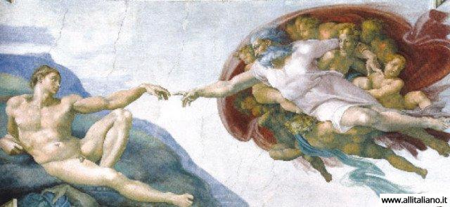 Микеланджело. «Сотворение Адама» (1511)