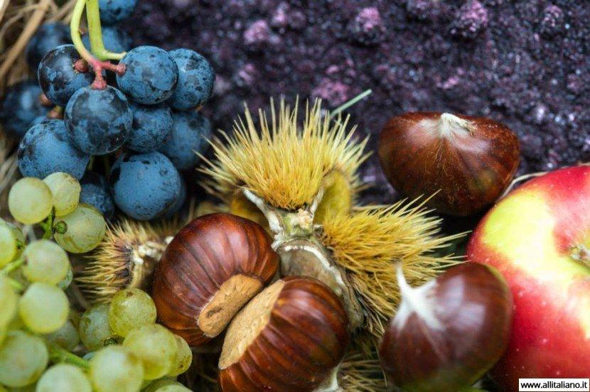Каштаны на празднике молодого вина в Южном Тироле
