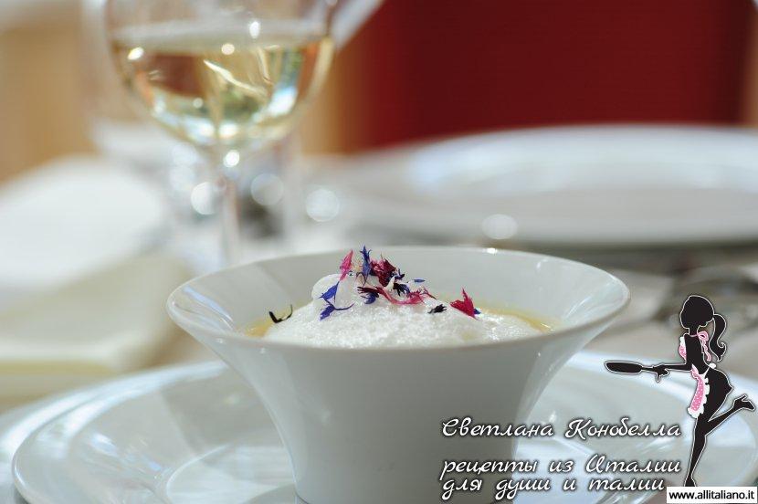 Суп из манной крупы от шеф-повара итальянского ресторана