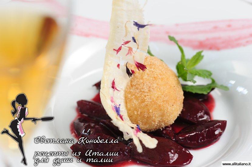 Рецепт приготовления «Творожного кнёдлика со сливой»