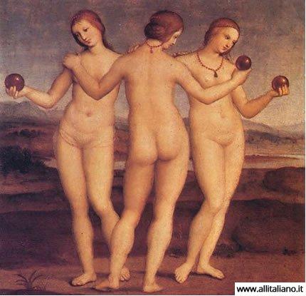 Три Три грации. Рафаэль, 1504 г.