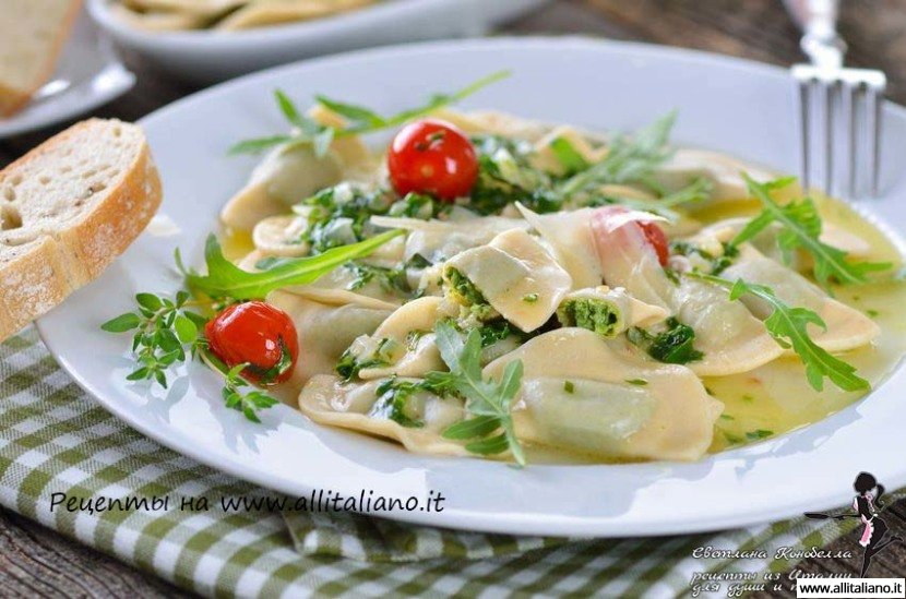 Равиоли из крапивы с творогом от итальянского шеф-повара